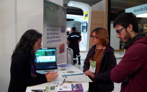 Presentación del proyecto GREEN TIC en stand propio en CONAMA 2014