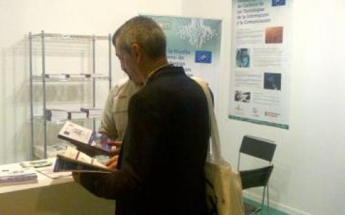 Presentación del proyecto en stand en MATELEC 2014