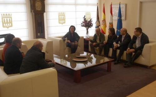 recepción de la alcaldesa de Logroño a los socios del proyecto GREEN TIC